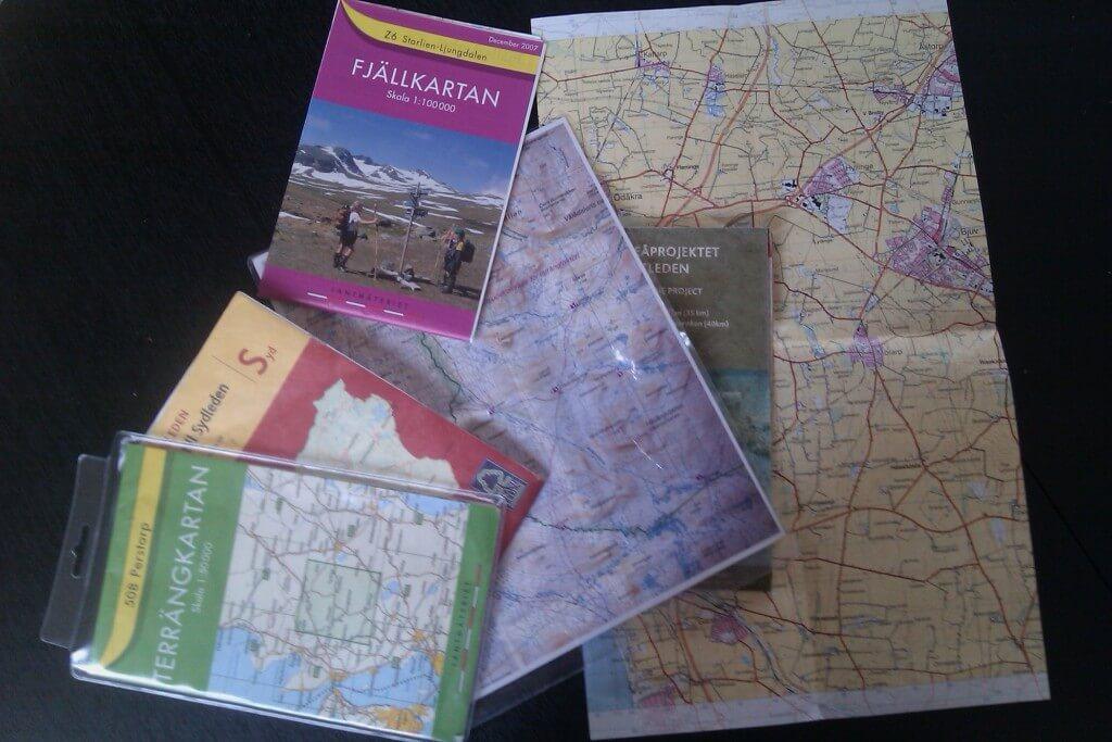 Använda kompass utan karta