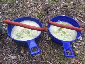 Soppa med ölkorv